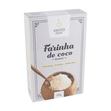 Farinha de coco Branca Premium 200g - Santo Óleo