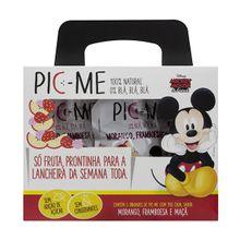 Pouch Disney Morango, Framboesa e Maçã 5x90g - Pic-me, 90g, 5 Unidades - Pic-me