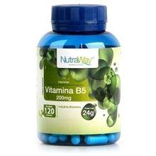Vitamina B5 200mg 120caps - Nutraway