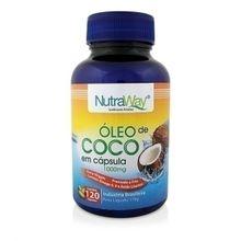 Óleo de Coco 120 cápsulas  - Nutraway, 1000mg, 120 cápsulas - Nutraway