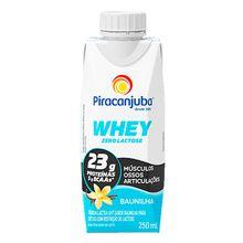 Whey Zero Lactose Baunilha 250ml - Piracanjuba
