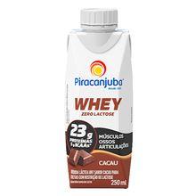 Whey Zero Lactose Cacau 250ml - Piracanjuba