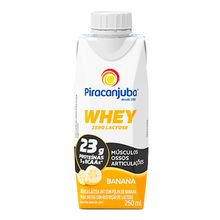 Whey Zero Lactose Banana 250ml - Piracanjuba
