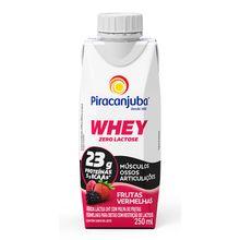 Whey Zero Lactose Frutas Vermelhas 250ml - Piracanjuba